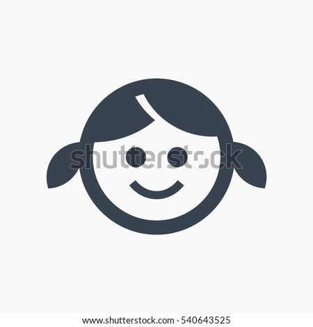 little girl isolated minimal