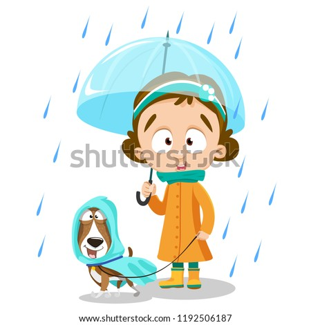 little girl with open umbrella