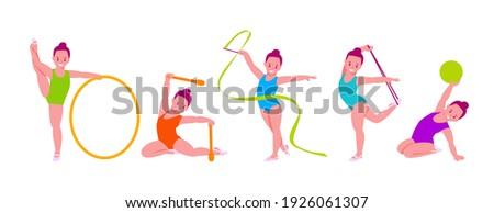 little girls rhythmic gymnasts