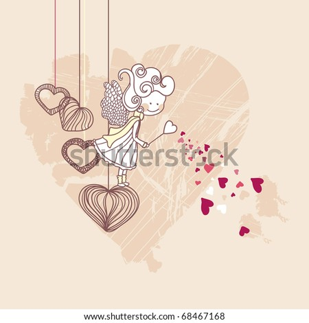 little love fairy - stock vector
