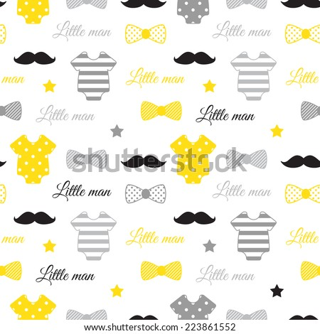 little man seamless pattern
