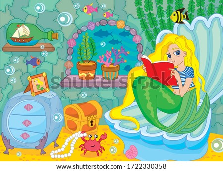 little mermaid in an underwater