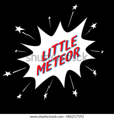 little meteor slogan in comic