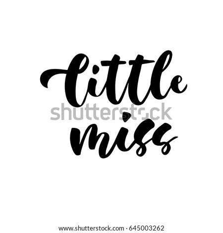 little miss hand lettering