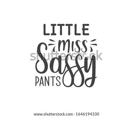 little miss sassy pants vector