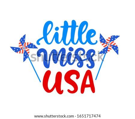 little miss usa hand written