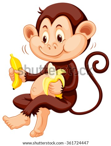 stock-vector-little-monkey-eating-bananas-illustration