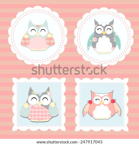 little owls vector
