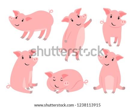 little piggy character cartoon