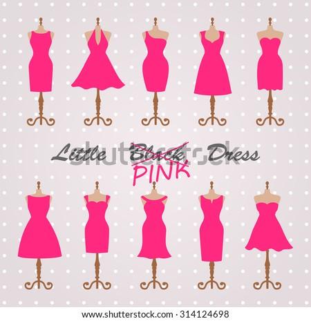 little pink dress fashion