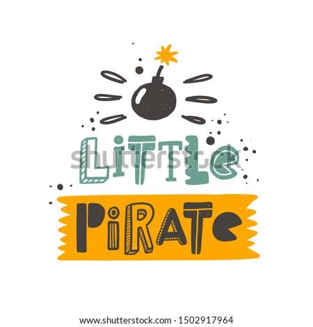 little pirate hand written