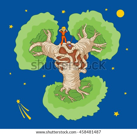little prince and baobabs