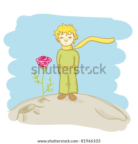 little prince and his rose