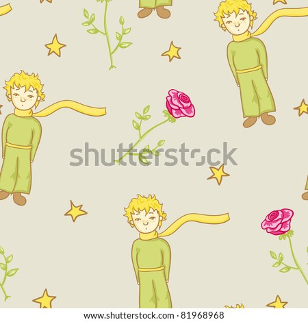 little prince seamless pattern