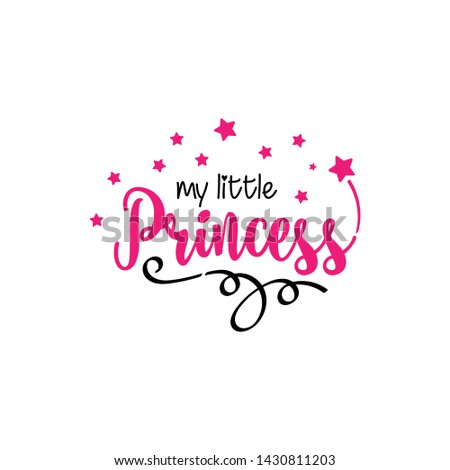 little princess font art with stars and love #1430811203