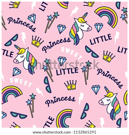 little princess seamless