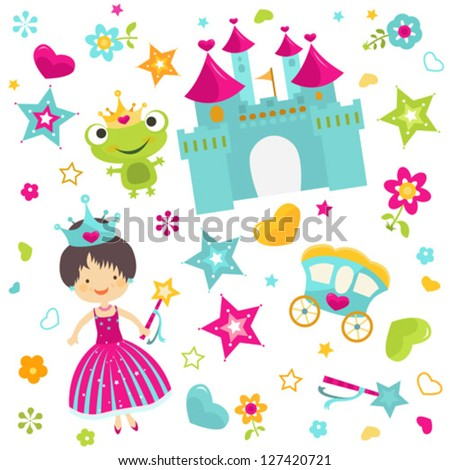 little princess with castle background
