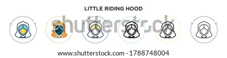 little red riding hood icon in
