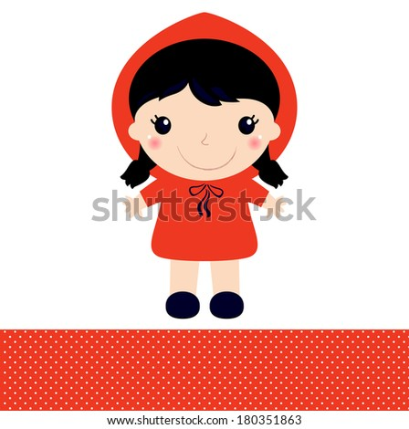 little red riding hood isolated