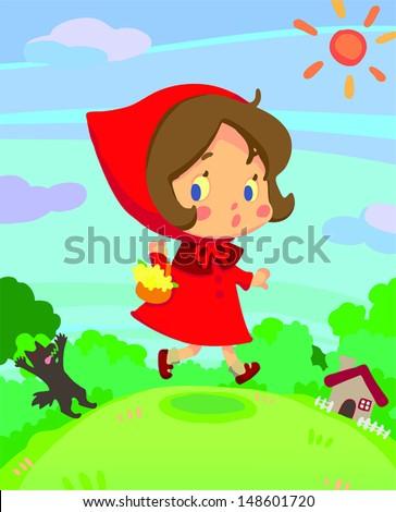 little red riding hood on run