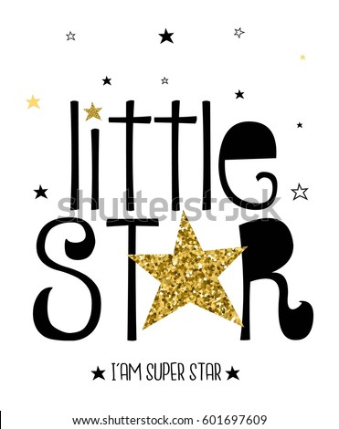 little star typography vector