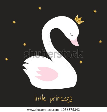 little swan princess with gold