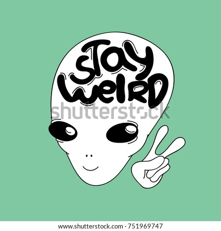 little sweet smiling alien, simple white and black art for summer clothes, boyish t-shirts, textile,embroidery,wall art,denim,stickers,mugs,covers, patterns, phone cases etc. inscription: