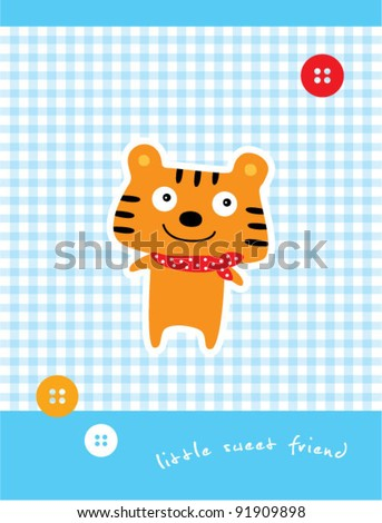 stock-vector-little-sweet-tiger-friend-91909898.jpg (343×470)
