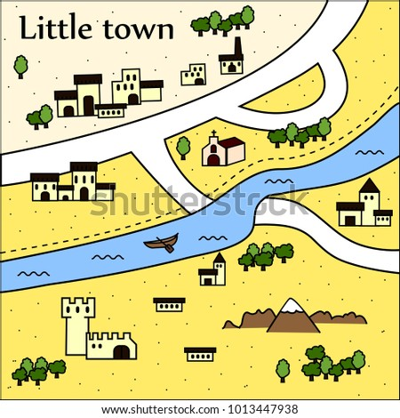 little town map with little