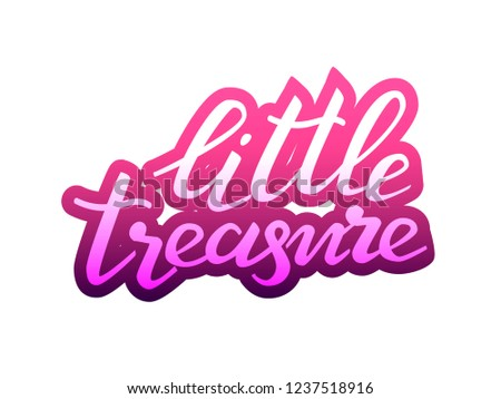 Little treasure lettering sticker. Vector illustration #1237518916