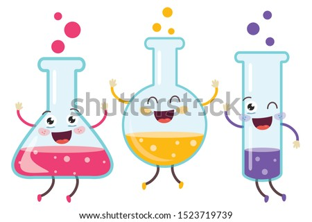 Little Tubes Doing Chemical Experiment