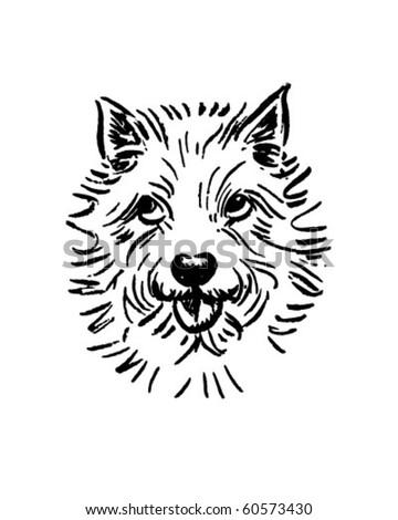 stock-vector-little-white-dog-retro-clip-art