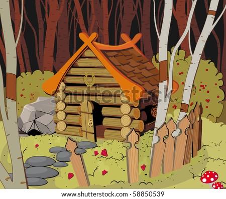 little wooden house in the dark