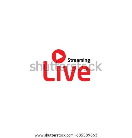 Live multimedia logo Stock photo ©