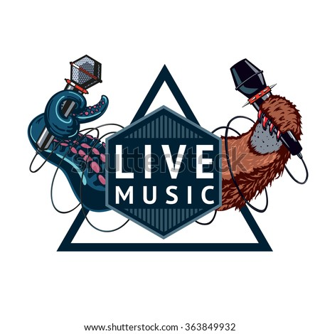 live music event sign with two