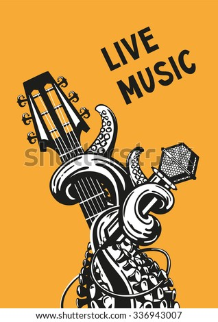 live music rock poster with a
