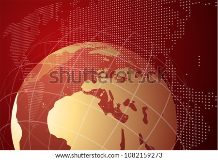 Live News gray background with Earth globe can be used for finance or business presentations, corporate annual report. EPS10.