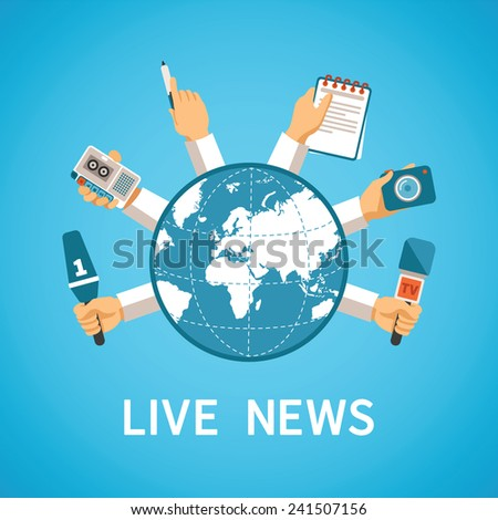 live news vector concept in
