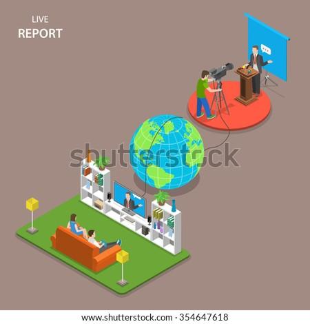live report isometric flat