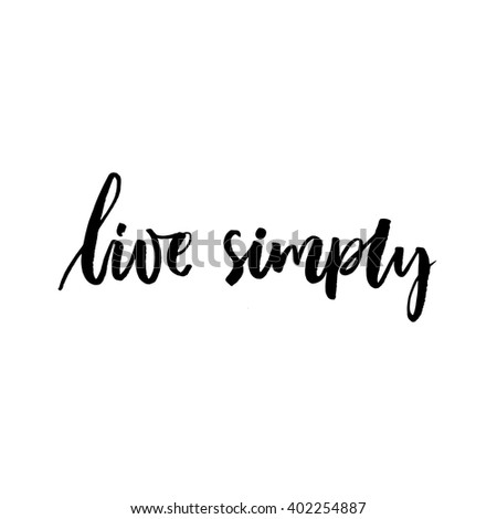 live simply inspirational