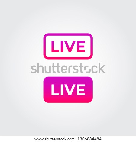 Live Stream icon. Instagram video streaming sign. Social media button. Personal brand communication attribute. Vector illustration.