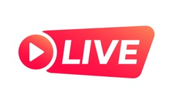 Live stream icon or button. Online broadcast logo. Vector illustration.