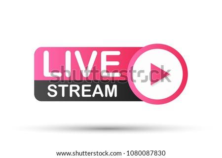 Live Stream Icon. Vector stock illustration