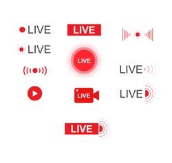 Live stream. Live broadcast. Video