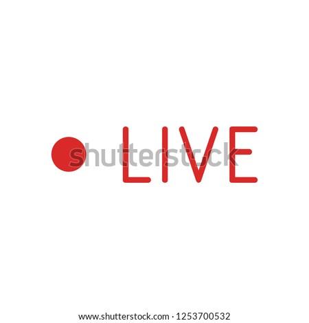 Live Stream sign, emblem, logo. Vector Illustration