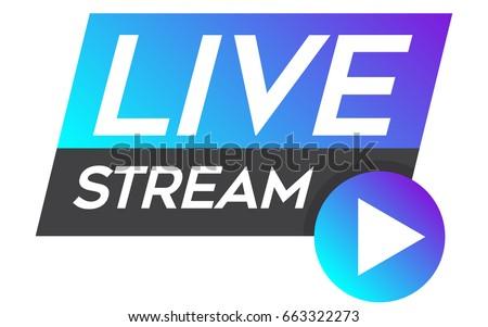 live stream vector design