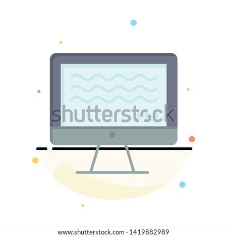 Live, Streaming, Live Streaming, Digital Abstract Flat Color Icon Template