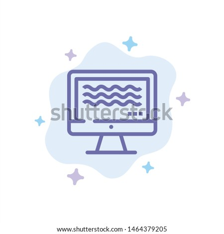 Live, Streaming, Live Streaming, Digital Blue Icon on Abstract Cloud Background. Vector Icon Template background