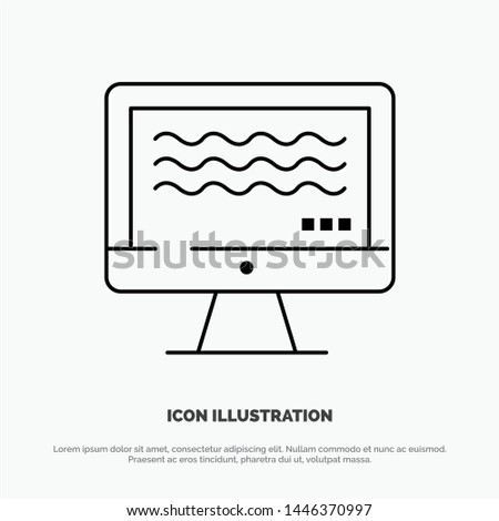 Live, Streaming, Live Streaming, Digital Line Icon Vector