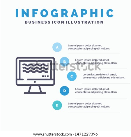 Live, Streaming, Live Streaming, Digital Line icon with 5 steps presentation infographics Background. Vector Icon Template background